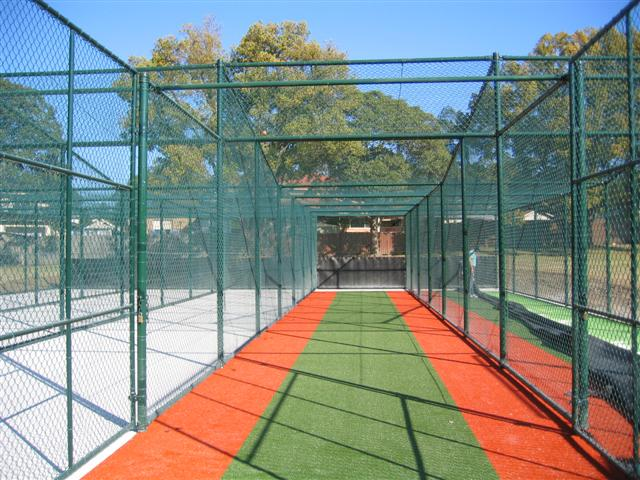 Cricket nets - Green PVC chainwire